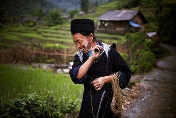سيدة من الشعوب الأصلية في فيتنام.