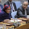 UN Deputy Secretary-General Amina Mohammed addresses Security Council meeting on 'peace and security in Africa.'