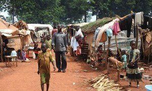 In Haute Kotto Prefecture, Central African Republic, IDPs in PK3 are trying to give to the site a life of its own. Some are selling wood or cassava flour and children have already organized their playgrounds.
