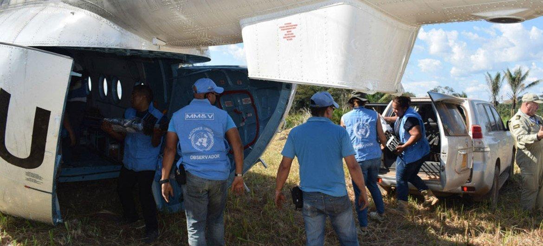 مراقبو الأمم المتحدة في كولومبيا.