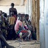 The Imvepi refugee camp in the Arua district, northern Uganda. Seen here are refugees waiting for additional profiling. They will then wait to be relocated to different zones within the camp.