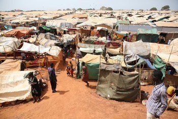 В результате боев 17 тысяч жителей города Вау Шиллук на западном берегу реки Нил были вынуждены  искать убежища в менее опасных районах.  Фото ООН