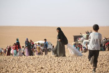 Ain Issa, a 50 km al norte de la ciudad de Raqqa,  es el refugio provisional de los niños y adultos que han huido de las áreas controladas por ISIS en Raqqa, Siria. Foro: UNICEF / Soulaiman
