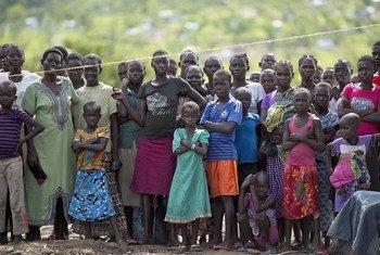 Sursudaneses en el distrito de Impevi, en Uganda.