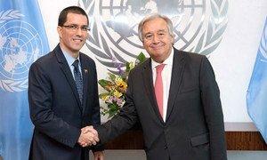 Durante o encontro, em Nova Iorque, ambos discutiram a situação no país e na região.