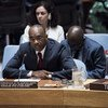 Modibo Touré, Special Representative of the Secretary-General and Head of the UN Integrated Peacebuilding Office in Guinea-Bissau (UNIOGBIS), addresses the Security Council.