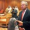 Huko Kuwait, Katibu Mkuu wa Umoja wa Mataifa António Guterres