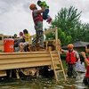 Texas National Guard soldiers assist residents affected by flooding caused by Hurricane Harvey in Houston (August 27th 2017).