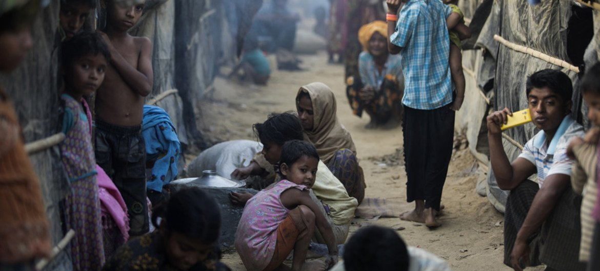 After fleeing violence in Myanmar in October 2016, Rohingya refugees live in overcrowded makeshift sites in Cox's Bazar, Bangladesh.