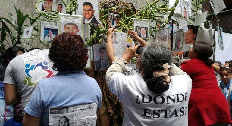 México: ONU llama a aplicar la Ley en Materia de Desapariciones Forzadas