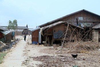 Le camp de Kyein Ni Pyin camp, dans le township de Pauktaw, Etat de Rakhine, au Myanmar (archives).