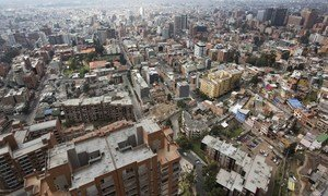 Foto aérea de Bogotá, la capital colombiana.