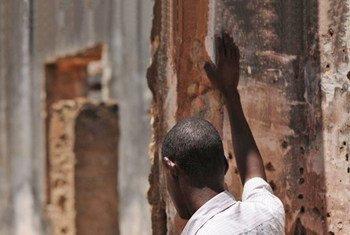 A former Al-Shabab fighter at a rehabilitation centre in Baidoa.