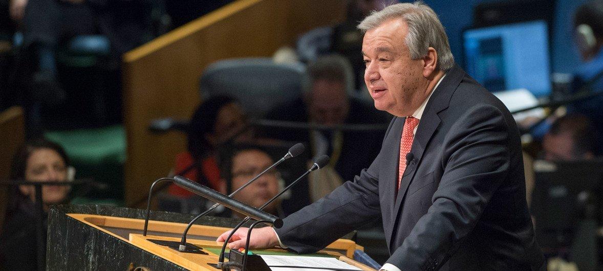 الأمين العام أنطونيو غوتيريش. Photo/Eskinder Debebe