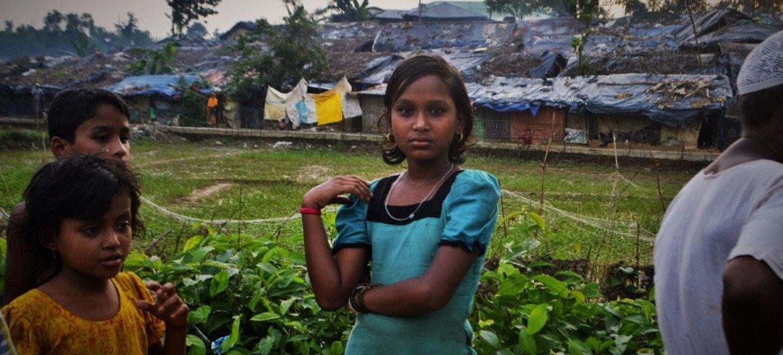 Des enfants Rohingyas du Myanmar dans le camp de Kutupalong, au Bangladesh (juillet 2017).