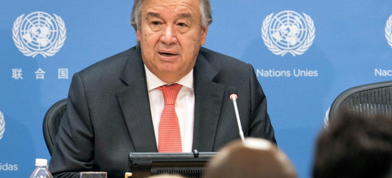 الأمين العام للأمم المتحدة أنطونيو غوتيريش.