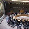 Голосование в зале Совета Безопасности ООН