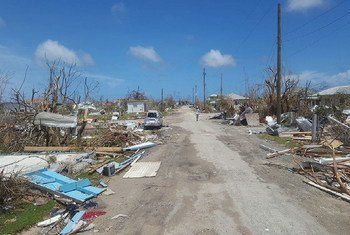 Damage on 8 September 2017 from Hurricane Irma in Antigua and Barbuda.