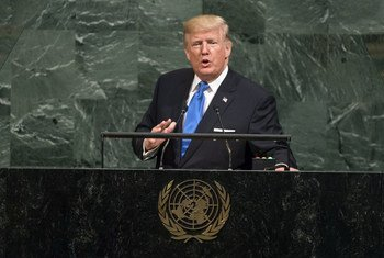 Donald Trump, President of the United States of America, addresses the general debate of the 72nd Session of the General Assembly.