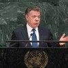 Juan Manuel Santos, presidente de Colombia, en la Asamblea General de la ONU. Foto: ONU/Cia Pak