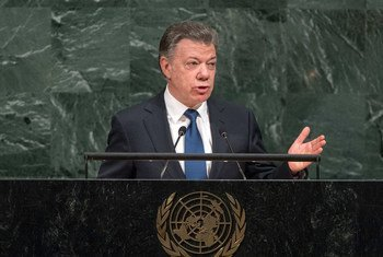 President Juan Manuel Santos Calderón of the Republic of Colombia addresses the General Assembly's annual general debate.