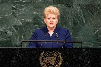Президент Литвы Даля Грибаускайте на 73 -й сессии Генеральной Ассамблеи ООН