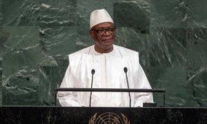 President Ibrahim Boubacar Keita of the Republic of Mali addresses the General Assembly's annual general debate.