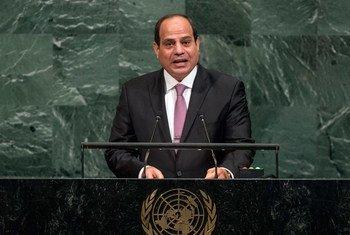 President Abdel Fattah Al Sisi of the Arab Republic of Egypt addresses the General Assembly's annual general debate.