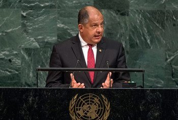President Luis Guillermo Solís Rivera of the Republic of Costa Rica addresses the General Assembly's annual general debate.