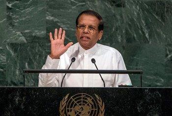President Maithripala Sirisena of the Democratic Socialist Republic of Sri Lanka addresses the General Assembly's annual general debate.