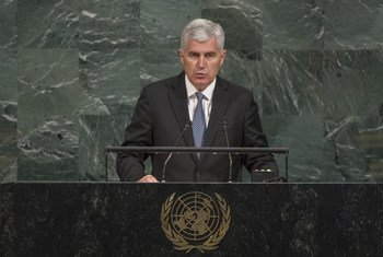 Dragan Covic, Chairman of the Presidency of Bosnia and Herzegovina, addresses the general debate of the 72nd Session of the General Assembly.