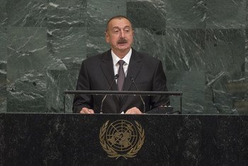 Ilham Heydar oglu Aliyev, President of Azerbaijan, addresses the general debate of the 72nd Session of the General Assembly.