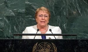 President Michelle Bachelet Jeria of Chile addresses the general debate of the General Assembly's seventy-second session.