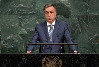 President Filip Vujanović of Montenegro addresses the general debate of the General Assembly's seventy-second session.
