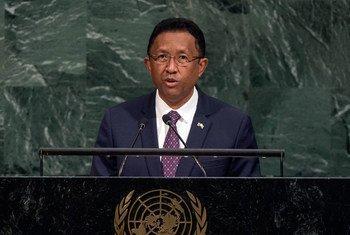 马达加斯加前总统拉乔纳里曼皮亚尼纳(Hery Rajaonarimampianina )。