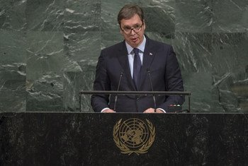 Aleksandar Vucic, President of Serbia, addresses the general debate of the 72nd Session of the General Assembly.