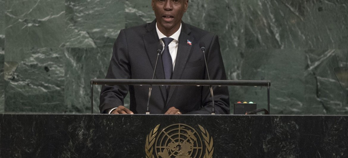 Haitian President backs Paris climate accord, calls on UN to