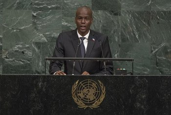 Jovenel Moise, President of Haiti, addresses the general debate of the 72nd Session of the General Assembly.