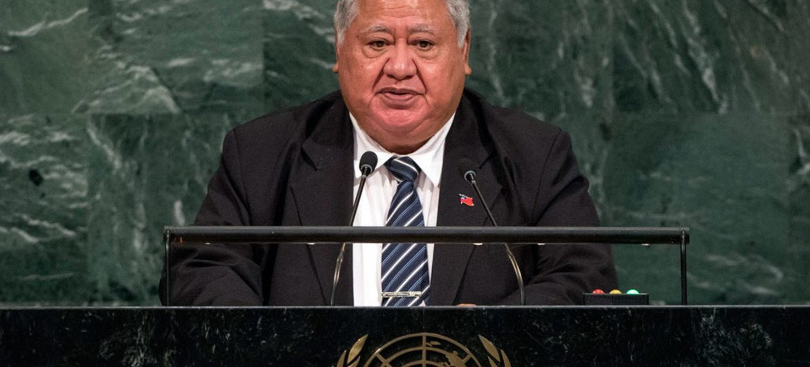 Prime Minister Tuilaepa Sailele Malielegaoi of the Independent State of Samoa addresses the general debate of the General Assembly's seventy-second session.