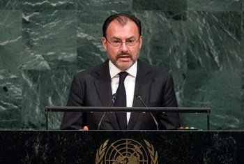 Luis Videgaray Caso, Minister for Foreign Affairs of Mexico, addresses the general debate of the General Assembly's seventy-second session.