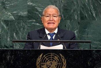 President Salvador Sánchez Cerén of El Salvador addresses the general debate of the General Assembly's seventy-second session.