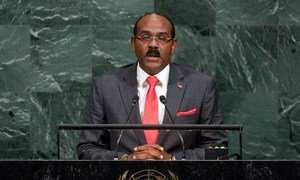 Prime Minister Gaston Alphonso Browne of Antigua and Barbuda addresses the general debate of the General Assembly's seventy-second session.