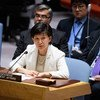 Izumi Nakamitsu, Under-Secretary-General and High Representative for Disarmament Affairs, addresses the Security Council's meeting on non-proliferation of weapons of mass destruction.