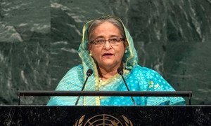 Prime Minister Sheikh Hasina of the People's Republic of Bangladesh addresses the general debate of the General Assembly's seventy-second session.