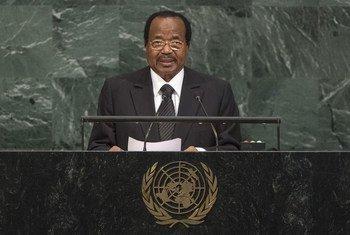 Le Président du Cameroun, Paul Biya, lors du débat général de l'Assemblée générale des Nations Unies. Photo ONU/Cia Pak