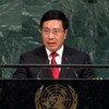 越南副总理兼外长范平明(Phạm Bình Minh)9月22日在第72届联大一般性辩论发言。
