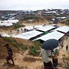 Rohingya refugees navigate their way around the Kutupalong extension site where shelters have been erected on land allocated by the Bangladesh Government.