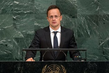 Péter Szijjártó, Minister for Foreign Affairs and Trade of Hungary, addresses the general debate of the General Assembly's seventy-second session.
