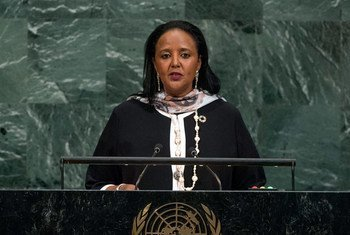Amina Chawahir Mohamed, Cabinet Secretary for Foreign Affairs and International Trade of the Republic of Kenya, addresses the general debate of the General Assembly's seventy-second session.