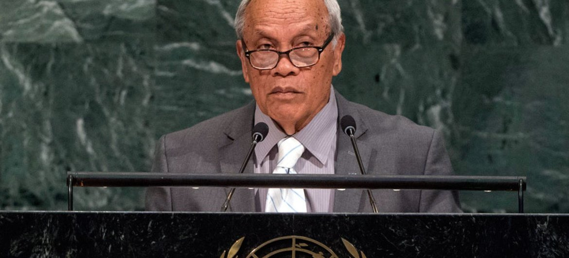Vice President Yosiwo George of the Federated States of Micronesia addresses the general debate of the General Assembly's seventy-second session.